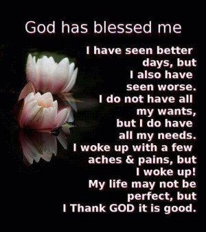 Daily, God has blessed me: Quote About God Has Blessed Me