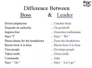 Be A Leader And Not A Boss