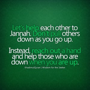 Help Each other Islamic Quote Wallpaper background