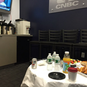 Before my Squawk Box appearance on CNBC waiting in the 39 green room