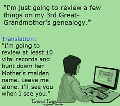 ... few things on my 3rd Great-Grandmother's genealogy.