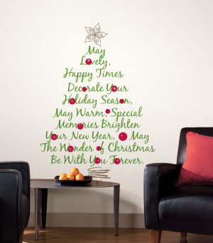 Christmas Tree Quote Giant Wall Stickers