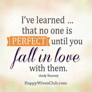 No One is Perfect Until…