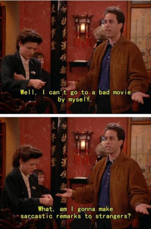 Why I have based my life on Seinfeld — Exhibit A