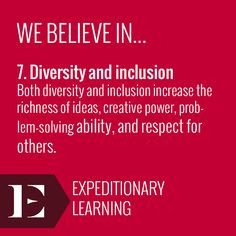 Both diversity and inclusion increase the richness of ideas, creative ...