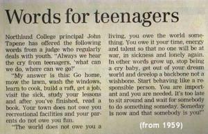 Words of Wisdom indeed.
