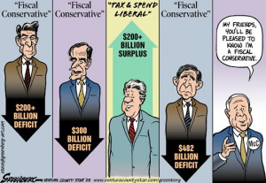 Fiscal Conservative vs. Tax & Spend Liberal