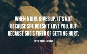tired of getting hurt