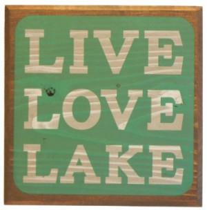 Live Love Lake Sign - Green - Lake House Sign - Rustic Decor - Large ...