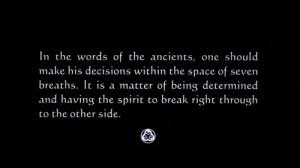 samurai philosophy