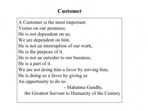 Customer Definition Gandhi