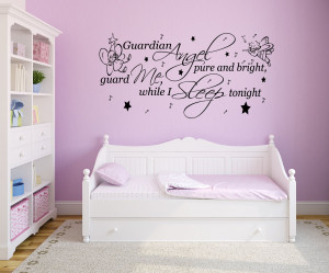 Guardian Angel - Nursery Rhyme Quote - Vinyl Wall Art Decal Sticker