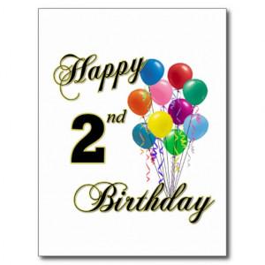 happy 2nd birthday boy cute second birthday card happy 2nd birthday ...