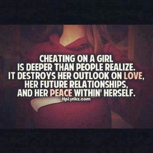Never cheat