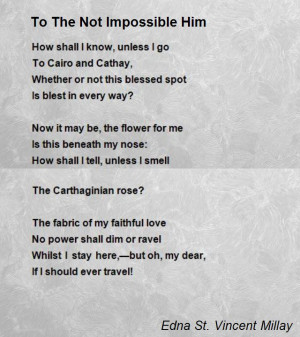Impossible Love Poems Him to The Not Impossible Him Poem