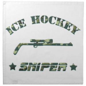 Ice Hockey Sniper (green) Napkin Handkerchiefs