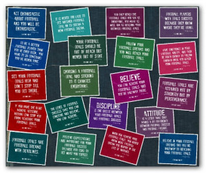 Football Motivational Quotes Collage