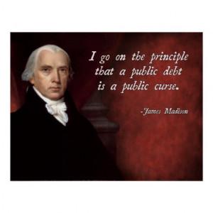 James Madison Debt Quote Print