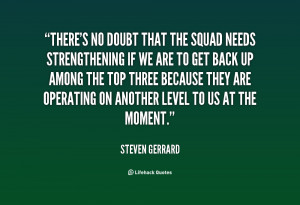 There's no doubt that the squad needs strengthening if we are to get ...
