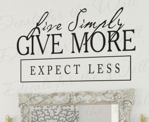 Live Simply Charity Wall Sticker Quote