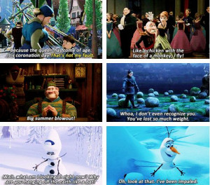 Hilarious Frozen quotes