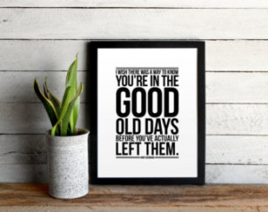 The Office Quote Poster - The Good Old Days by Andy Bernard - Modern ...