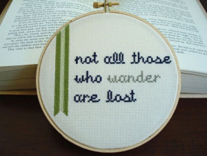 Cross stitch quote from The Fellowship of the