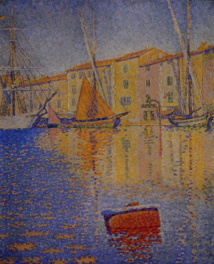 paul signac saint tropez la bouée rouge description paul signac