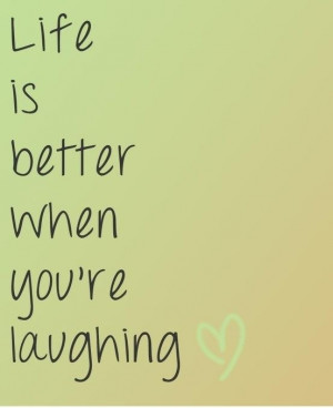 Laugh and be #happy