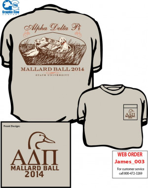 Alpha Delta Pi Mallard Ball shirt by James