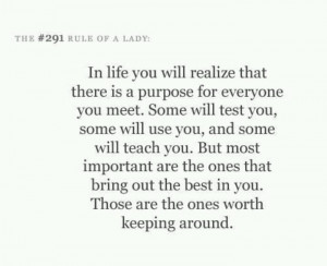 In life ..