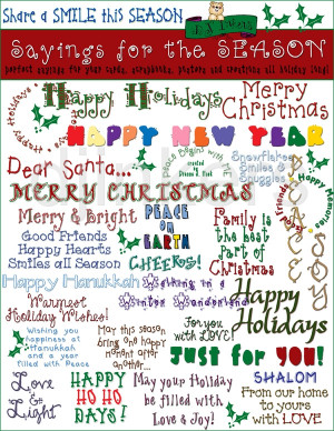 Holiday Card Quotes Saying ~ Christmas Card Sayings on Pinterest   63 ...