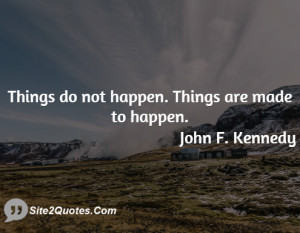 Motivational Quotes - John F. Kennedy
