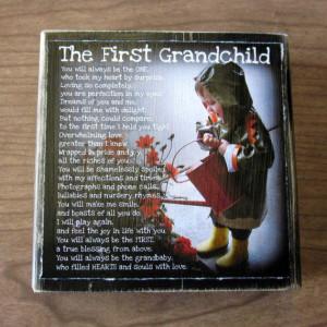 First Grandchild Poem Block XL Personalized by WasteNotRecycledArt, $ ...