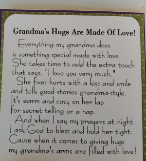 quotes and photos about grandson | G8 country life: Grandma's Hugs ...