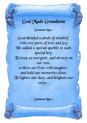 For my grandsons