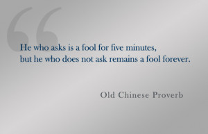 Quote: Old Chinese Proverb