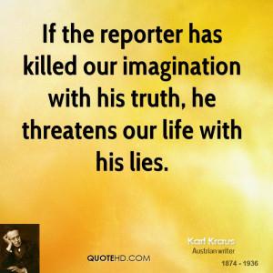 Karl Kraus Imagination Quotes