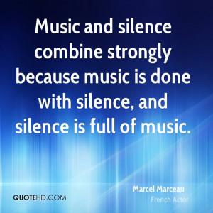 Marcel Marceau Music Quotes
