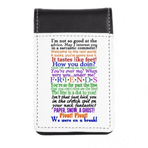 ... Gifts > Chandler Notepads > Friends TV Quotes Small Leather Notepad
