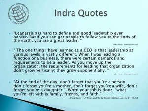 Indra Nooyi Quotes Indra quotes