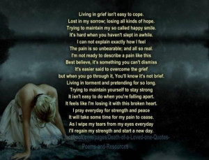 Quotes For Someone Who Lost A Loved One ~ Quotes about dealing ...