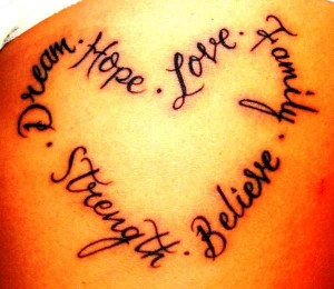 ... the word love tattoos quotes Pictures of the Word Love Tattoos Quotes