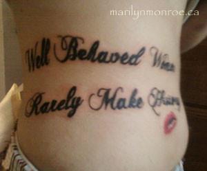 marilyn monroe quotes tattoos designs quotesgram. Black Bedroom Furniture Sets. Home Design Ideas