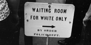 racial segregation white only sign