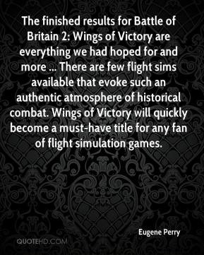 Eugene Perry - The finished results for Battle of Britain 2: Wings of ...
