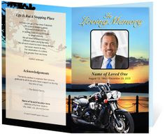 , Career : Motorcycle Preprinted Title Letter Single Fold funeral ...