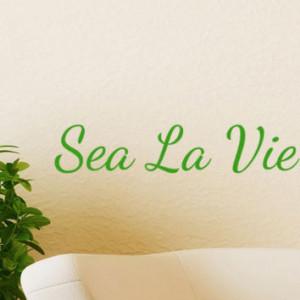 Sea La Vie Beach Decor Wall Decal Word Quotes , cute nautical ...