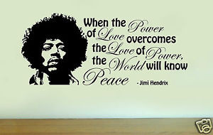 JIMI-HENDRIX-Silhouette-Vinyl-Wall-Art-Quote-PEACE-Sticker-Decal-Home ...