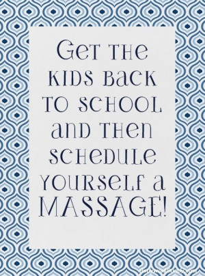 Back to school massage is such a needed massage. Call or schedule ...